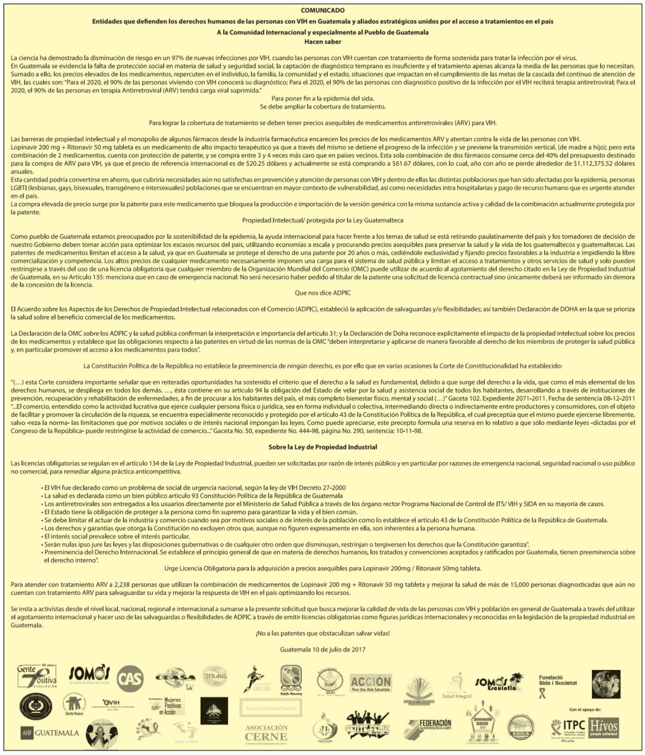 Comunicado de Prensa ITPC-LATCA 10julio2017 wb